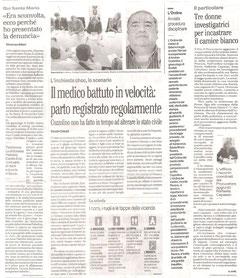 Dal Mattino del 09/05/2013