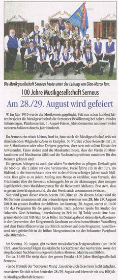 Gipfelzeitung vom 15. Juli 2010