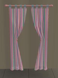 rideaux longs fenêtre avec volets (Création de SimsDesignAvenue)