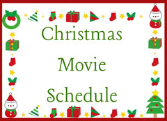 Christmas Movie Schedule