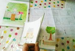1冊の絵本を創作してみるコース授業