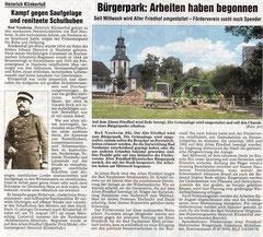 Wetterauer Zeitung vom August 2009