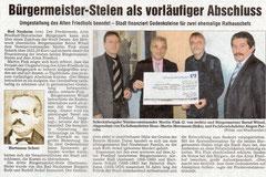 Wetterauer Zeitung vom 20. Nov. 2009