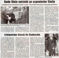 Wetterauer Zeitung vom 9. Okt 2008