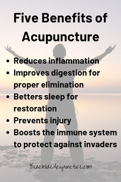 5 Benefits of Acupuncture on the BeachsideAcupuncture.com blog