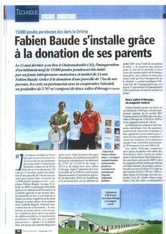 Inauguration 15000 poules bio Filières Avicoles Septembre 2012
