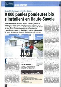 Inauguration 9000 pondeuses bio Filières Avicoles  Septembre 2011