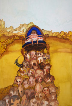 Thron, 2011, 180cm x 120cm, Oil on canvas