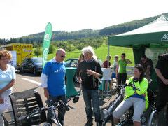 Dreirad für Erwachsene Probefahrten