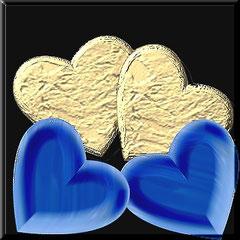 Herzen aus Gold