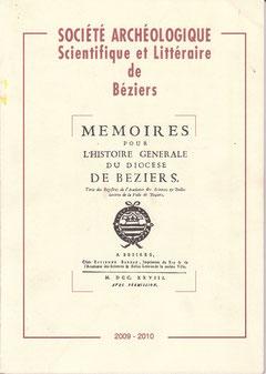 Couverture bulletin Société Archéologique de Béziers