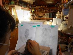 アイディアスケッチをもとに制作 画家 立花雪 YukiTachibana