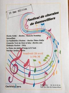 Affiche concert à Gennevilliers