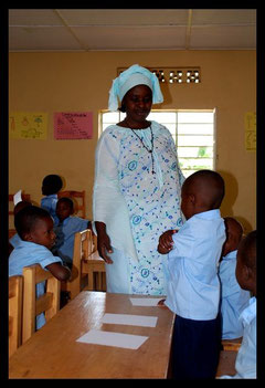 Les enfants de Rutonde à l'école