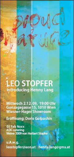 Vernissage Leo Stocker & Henny Lang... 2. Dezember 2009