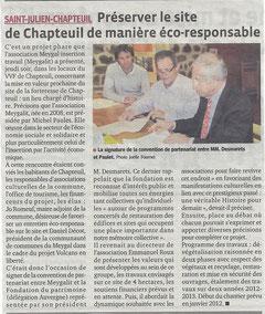 Article de presse Le Progrès - La Tribune du 27/11/2011