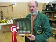 Müllner Manfred mit seinen Champion Grünfink achat
