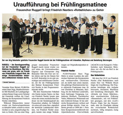 Lokalzeitung Volksblatt, 26.04.2010
