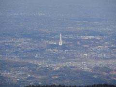 山頂から富田林方面