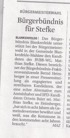 MAZ/Zossener Rundschau 17.08.2011