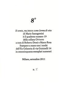 colophon stampato a due colori numerato