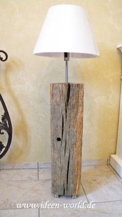 Stehlampe Unikat Holz
