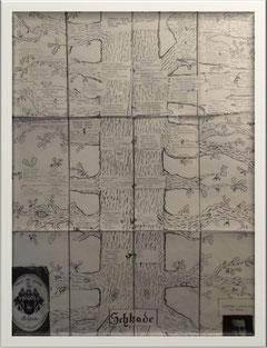überlieferter Stammbaum in Papierform