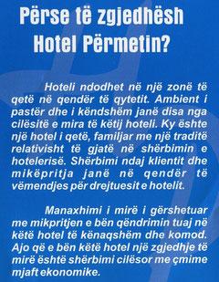 zgjidh hotel permetin