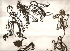 Calligraphie contemporaine de Liu Hsiang Lan