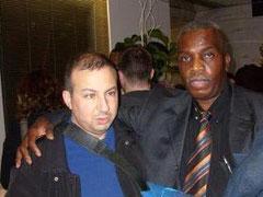 Ndomba MAYONI à côté de Monsieur Hamou BOUAKKAZ adjoint au Maire de Paris