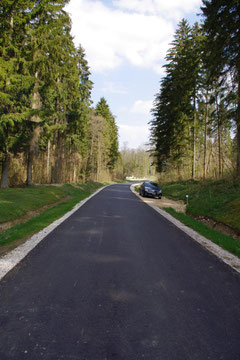 Die Straße in Richtung Ornes