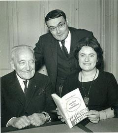 Catherine Paysan avec Hervé Bazin et Jules Romain