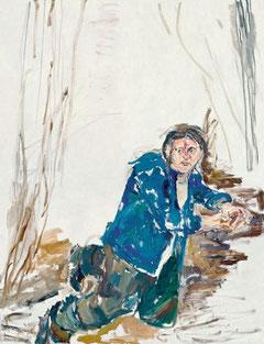 Büßender Antonius, Porträtmalerei von Angela Ulrich