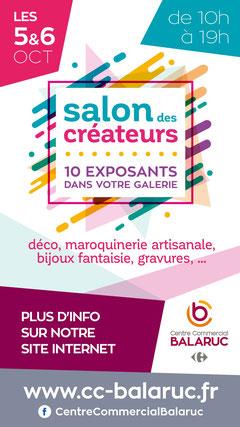 Salon de créateurs Centre commercial Carrefour Balaruc