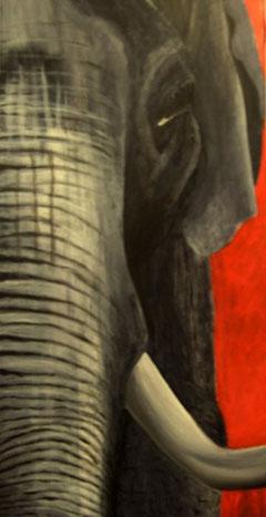 Elefant Acryl auf Leinwand 50x100cm