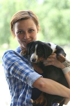 Unsere Black eyed Phoebe mit Ihrer neuen Besitzerin