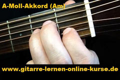 A-Moll-Akkord (Am) Gitarrengriff