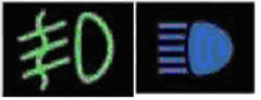 Fog light/Brights Indicators
