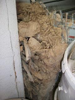 Lehm-Strohmischung für die Wand