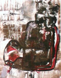 im Moorfluss, Tusche-Mischtechnik auf Papier  ©  erdengoldkunstwerk Nathalie Arun