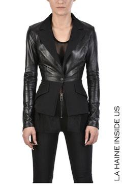 Jacket Leder+Stoff