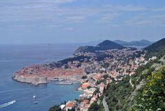 Blick auf Dubrovnik von der Magistrala