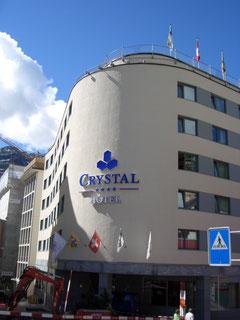 ++++ Hotel Crystal in St. Moritz ( oder Ritz, wie wir jetzt sagen dürfen)