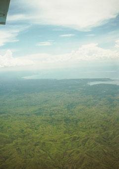 1900年代から日本等に森林伐採されたフィリピン・ミンダナオ島(1987年)