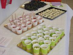 verrines accordées aux vins sélectionnés