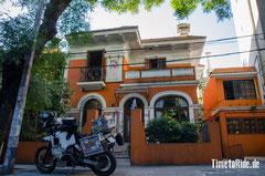 Uruguay - Südamerika - Reise - Motorrad - Honda Transalp - Unser Hostal in der Innenstadt von Montevideo