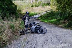 Neuseeland - Motorrad - Reise - Suche nach Camping Spot - Sturz