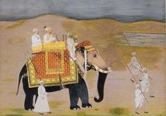 Miniature indienne. L'Inde est une destination idéale pour un voyage de noces car l'Inde est un pays où le mariage est un événement important dans la vie d'un Indien et que les Indiens adorent aiment la fête et l'amour.