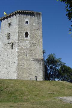 le château Moncade, réaménagé par Gaston Febus puis incendié en 1569 pendant les guerres de Religion