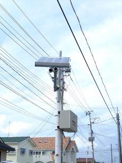 津波被害の大きかった久之浜地域につけられた市民手作りのソーラー街灯